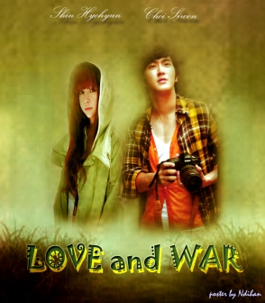 Poster Love And War